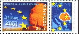 2007 - ROMANIA - ENTRATA NELL´UNIONE EUROPEA / ROMANIA IN EUROPEAN UNION. EM. CONGIUNTA CON BULGARIA. MNH - Emissioni Congiunte