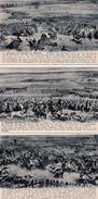 MILITARIA : Lot De 12 Cartes : Panorama Der Schlacht Von Waterloo ( 4 Scans ) - Guerres - Autres