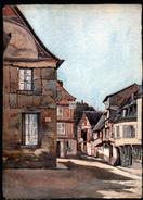 AQUARELLE 385 X 280 Mm, ARTISTE: MATHILDE CAUDEL DIDIER ( BENEZIT ), 76, CAUDEBEC, 1906 - Aquarelles