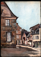 AQUARELLE 385 X 280 Mm, ARTISTE: MATHILDE CAUDEL DIDIER ( BENEZIT ), 76, CAUDEBEC, 1906 - Watercolours