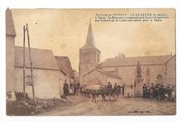 LE QUARTIER  (cpa 63)  Environs De Pionsat , L'Eglise, Le Monument Aux Morts -   - L 1 - Andere Gemeenten