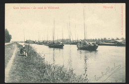 +++ CPA - VILVORDE - VILVOORDE - Trois Fontaines - Le Canal De Willebroeck - Pêcheur - V.G.  // - Vilvoorde
