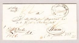 Italien BRIXEN Amtssiegelbrief 1832 Nach Wien Mit Antwort In 1833 Zurückgesendet - Italien
