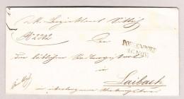Österreich POESENDORF 1858 Amtlich Brief Ohne Inhalt Nach Laibach - Briefe U. Dokumente