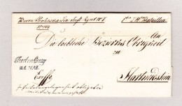 Österreich JUDENBURG 21 Mai (1844) 2-Zeil-Stempel Auf Brief Ohne Inhalt - Österreich