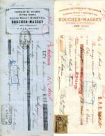 EURE.EZY.FABRIQUE DE PEIGNES.MASSEY FILS.5 PIECES. - Bills Of Exchange