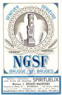 Etiket Etiquette - Genever - Genièvre - NGSF - Brugge - Maiso Desmet - Maertens Rumbeke - Etiquettes