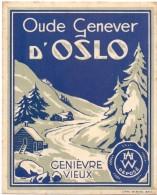 Etiket Etiquette - Genever - Genièvre - D' OSLO - Etiquettes