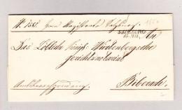 Österreich SALZBURG 15 MAI 2-Zeil-Stempel Vorphilabrief 1850 Nach Biberach - Österreich