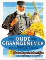 Etiket Etiquette - Genever - Genièvre - Oude Graangenever - Gebrs Buyck - St Eloois Vijve - Etiquettes