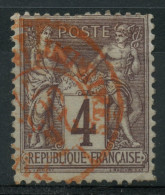 France (1877) N 88 (o) Cachet Rouge - 1876-1878 Sage (Type I)