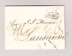 Österreich WIEN Im Kreis Stempel Vorphilabrief 1822 Nach Lausanne - Österreich