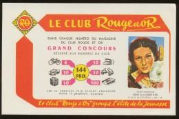 Buvard - Rouge Et OR - Vloeipapier