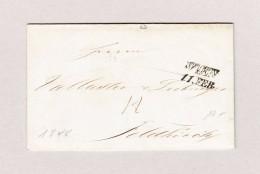 Österreich WIEN 11 FEB 2-Zeil-Stempel Vorphila Brief 1848 Nach Feldkirch - Österreich