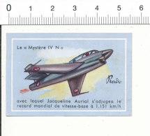 Vignette Chocolat Prado / Le Mystère IV N De Jacqueline Auriol / Avion Record Aviation / 6/VIN-232 - Chocolat