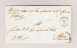 Italien CORMONS 2-Kreis-Stempel Auf Brief 1849 Ohne Inhalt Nach Palma Italien - Italien