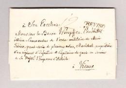 Italien TREVISO 13 MAR 2-Zeil-Stempel Auf Brief 1846 Mit Inhalt Nach Wien - Italien