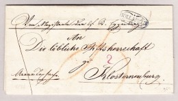 Österreich NÖ HOLLABRUN Im Kreis Vorphilabrief 1836 Nach Klosternenburg - Österreich