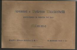 B2V66--  ITALIA, VARIE,   CARTONCINO DI PARTECIPAZIONE,  ,,NASCITA   1936, - Nascita & Battesimo