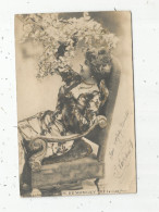 Cp , Spectacle , Artiste , Voyagée 1902 , H. DEMONGEY , Incrustations Brillantes , Dos Simple - Künstler