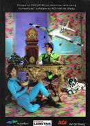Plaque Publicitaire Lenticulaire 3D Format 20x30cms Pour LENSTAR, Curieux Mélange, Bureau XIII°, Jouets, ...(cl3.1) - Plaques Publicitaires