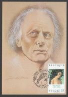 """CARTE MAXIMUM DE BELGIQUE - TABLEAU DE PAUL DELVAUX : """"L'HOMME DE LA RUE"""", DETAIL - Moderni"""