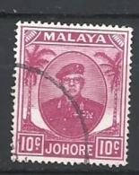 MALESIA   JOHOR       1949 Sultan Ibrahim    Used - Johore