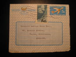 Worcester 1967 To Hayes Middlessex England UK GB Stamp On Aerogram Aerogramme Air Letter Mail Cancel South Africa RSA - Poste Aérienne
