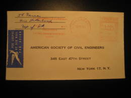 Stellenbosch 1964 To New York USA District Bank Postage Paid Meter Mail Air Mail Cover Cancel South Africa - Afrique Du Sud (1961-...)