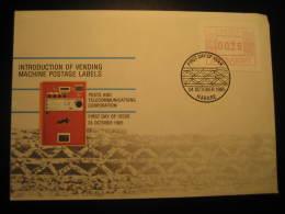 Harare 1985 Machine Postage Label ATM Frama Labels 00,26 FDC Cancel Cover Zimbabwe - Zimbabwe (1980-...)