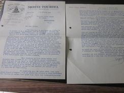 1940 FACTURE Congé BOISSON GAZEUSE SIROP VINS EAU-BIERE Biére MOTTE-TOURTEL 11AV ARENC MARSEILLE>R. MANUEL BARCELONNETTE - France