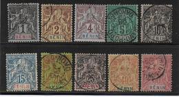 BENIN - YVERT N° 33/40 + 42/43 OBLITERES - COTE = 100 EURO - - Oblitérés