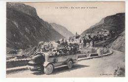 05 - La Grave - En Route Pour Le Lautaret - Autobus P.LM. Route Des Alpes - Autres Communes