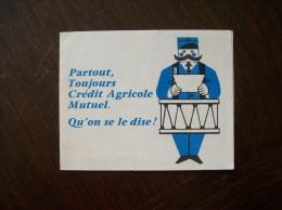 """Calendrier 1963 Publicitaire  """"Crédit Agricole"""" - Calendari"""