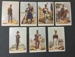7  Chromo\´s Belgian Military Uniforms 1831/1895  N°41/50/51/52/53/55/56. - Non Classificati