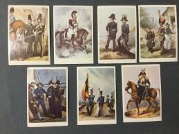 7  Chromo´s Belgian Military Uniforms 1831/1833  N°41/50/51/52/53/55/56. - Non Classificati