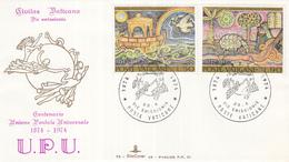 Vaticaan - FDC 23-04-1974 - 100 Jahre Weltpostverein (UPU): Mosaiken - Michel 633 - 634 - Post