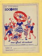 PROTEGE CAHIER : Les Chicorées SOCOREE Enfants Jouets Ballon - Protège-cahiers