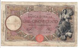 Italy 500 Lire 26/06/1939 Riparato / Repaired - 500 Lire