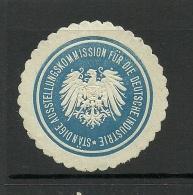 Deutschland Keiserreich Sehr Alte Siegelmarke Kommission F. Dt. Industrie - Duitsland