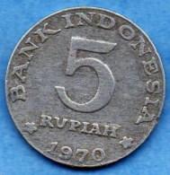 R7/  INDONESIE / INDONESIA 5 RUPIAH 1970 - Indonésie