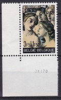 Belgie Drukdatum COB** 1564 - Hoekdatums