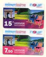 CARTES PREPAYEES  9 TELECOM  *7,5e *15e  Monde Seconde (lot De 2) 7215 - France