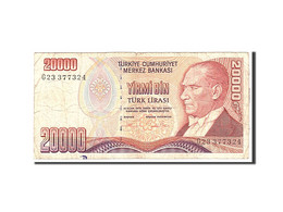 Turquie, 20,000 Lira, 1970, 1995, KM:202, TB - Turquie