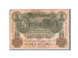 Allemagne, 50 Mark, 1908, KM:32, 1908-02-07, TB - [ 2] 1871-1918 : Impero Tedesco