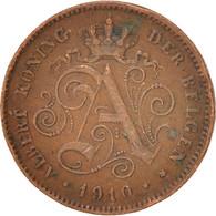 Belgique, Albert I, 2 Centimes, 1910, TB+, Cuivre, KM:65 - 1865-1909: Leopold II