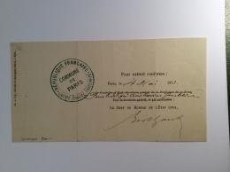France Formulaire Avec Cachet De La  COMMUNE DE PARIS 4 MAI 1871 Pour Extrait Conforme Signé  Chef De L' état Civil - War 1870
