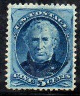 T1039 - STATI UNITI ,  5 Cent Taylor . Senza Gomma - 1847-99 Emissioni Generali