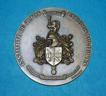 PORTUGAL Large Medal -Portuguese Army- Instituto De Altos, Estudos Militares - Professionnels / De Société