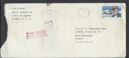 USA Airmail 1989 Samuel P. Langley Aviation Pioneer Airmail Slogan Cancellation Postal History Cover Sent To Pakistan - Brieven En Documenten